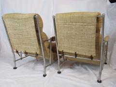 Warren McArthur Warren McArthur Pair of Stainless Steel Lounge Chairs and Ottoman Circa 1935 - 822209