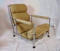 Warren McArthur Warren McArthur Pair of Stainless Steel Lounge Chairs and Ottoman Circa 1935 - 822210
