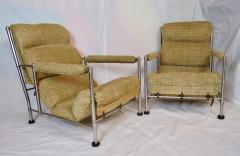 Warren McArthur Warren McArthur Pair of Stainless Steel Lounge Chairs and Ottoman Circa 1935 - 822212
