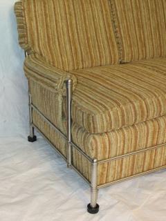 Warren McArthur Warren McArthur Park Avenue Couch Stainless Steel Slat Back1935 36 Rare - 784031