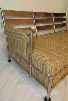 Warren McArthur Warren McArthur Park Avenue Couch Stainless Steel Slat Back1935 36 Rare - 784034