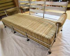 Warren McArthur Warren McArthur Park Avenue Couch Stainless Steel Slat Back1935 36 Rare - 784036
