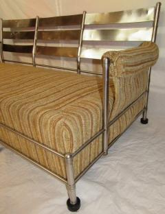 Warren McArthur Warren McArthur Park Avenue Couch Stainless Steel Slat Back1935 36 Rare - 784037