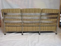 Warren McArthur Warren McArthur Park Avenue Couch Stainless Steel Slat Back1935 36 Rare - 784063