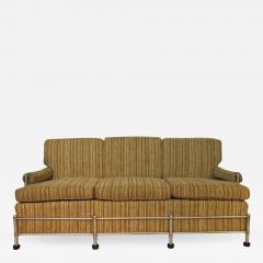 Warren McArthur Warren McArthur Park Avenue Couch Stainless Steel Slat Back1935 36 Rare - 785944