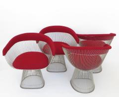 Warren Platner Four Warren Planter Dining Chairs for Knoll International circa 1980 - 1013317