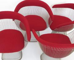 Warren Platner Four Warren Planter Dining Chairs for Knoll International circa 1980 - 1013320