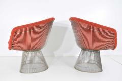 Warren Platner Pair of 1960s Nickel Plated Warren Platner Lounge Chairs - 1145986