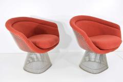 Warren Platner Pair of 1960s Nickel Plated Warren Platner Lounge Chairs - 1145987
