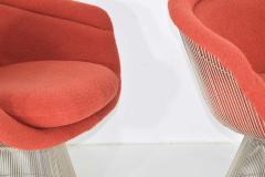 Warren Platner Pair of 1960s Nickel Plated Warren Platner Lounge Chairs - 1145992