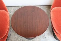Warren Platner Pair of Warren Platner for Knoll Bronze and Mohair Lounge Chairs with Side Table - 627857