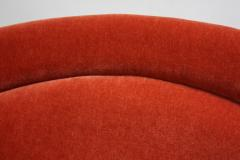 Warren Platner Pair of Warren Platner for Knoll Bronze and Mohair Lounge Chairs with Side Table - 627861