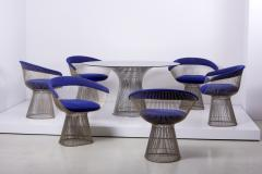 Warren Platner Set of Wire Dining Table and Six Chairs by Warren Platner for Knoll - 1367011