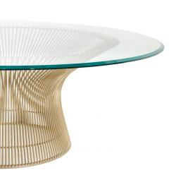 Warren Platner Warren Platner Glass Top Coffee Table with Sculptural Wire Base USA 1970s - 636962