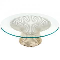 Warren Platner Warren Platner Glass Top Coffee Table with Sculptural Wire Base USA 1970s - 636963
