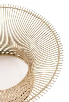 Warren Platner Warren Platner Glass Top Coffee Table with Sculptural Wire Base USA 1970s - 636964