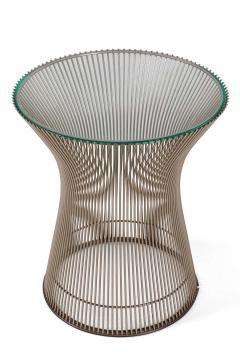 Warren Platner Warren Platner Glass and Chrome Side Table for Knoll - 1495120