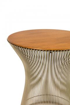 Warren Platner Warren Platner Walnut and Chrome Side Table for Knoll - 1090107