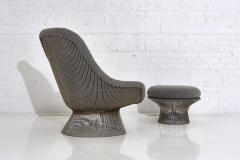 Warren Platner Warren Platner for Knoll Lounge Chair With Ottoman - 2045064