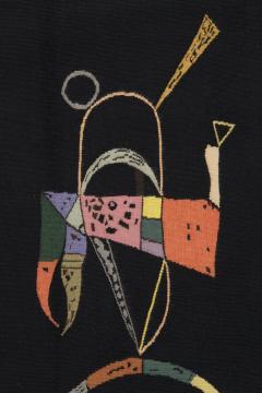 Wassily Kandinsky Unique modern tapestry designed by Wassily Kandinsky Sur Fond Noir - 954170