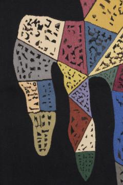 Wassily Kandinsky Unique modern tapestry designed by Wassily Kandinsky Sur Fond Noir - 954172