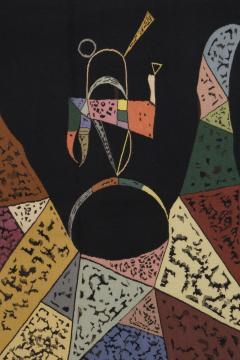 Wassily Kandinsky Unique modern tapestry designed by Wassily Kandinsky Sur Fond Noir - 954173