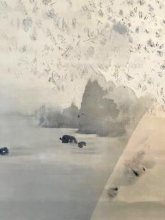 Watanabe Seitei Japanese Ink and Wash Scroll Painting by Watanabe Seitei - 1908694