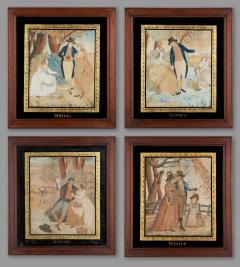 Watercolor Paintings of the Four Seasons - 1402819
