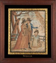Watercolor Paintings of the Four Seasons - 1402823