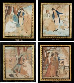 Watercolor Paintings of the Four Seasons - 1405550