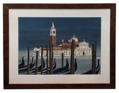 Watercolor on Paper Chiesa di San Maggiore Venice signed Michael Dunlavey - 1301719