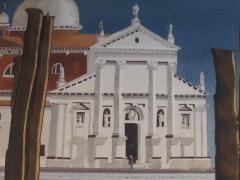 Watercolor on Paper Chiesa di San Maggiore Venice signed Michael Dunlavey - 1301724