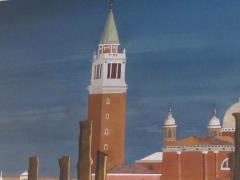 Watercolor on Paper Chiesa di San Maggiore Venice signed Michael Dunlavey - 1301726