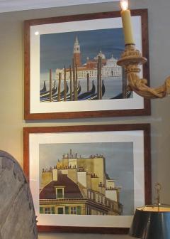 Watercolor on Paper Chiesa di San Maggiore Venice signed Michael Dunlavey - 1301727