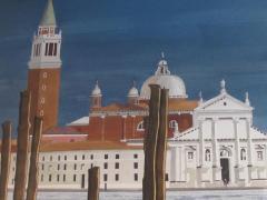 Watercolor on Paper Chiesa di San Maggiore Venice signed Michael Dunlavey - 1301734