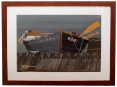 Watercolor on Paper Rendezvous Bodega Bay California by Michael Dunlavey - 1282305