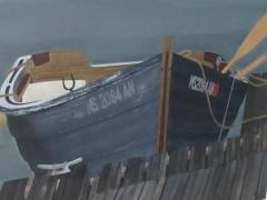 Watercolor on Paper Rendezvous Bodega Bay California by Michael Dunlavey - 1282310