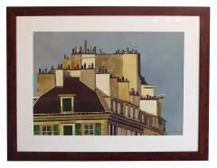 Watercolor on Paper Rooftops of Paris by Michael Dunlavey - 1285637