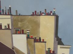 Watercolor on Paper Rooftops of Paris by Michael Dunlavey - 1285643