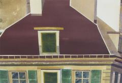 Watercolor on Paper Rooftops of Paris by Michael Dunlavey - 1285645
