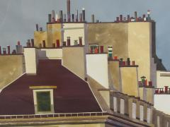 Watercolor on Paper Rooftops of Paris by Michael Dunlavey - 1285646