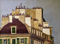 Watercolor on Paper Rooftops of Paris by Michael Dunlavey - 1285647