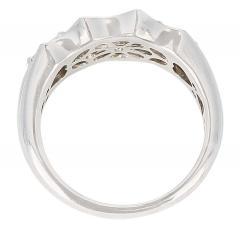Wavy Row Platinum 1 Carat Baguette Diamond Bridal Ring - 1795379
