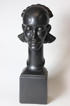 Waylande Gregory Congo Head sculpture designed by Wayland Gregory made by Cowan Pottery Studio - 1320697