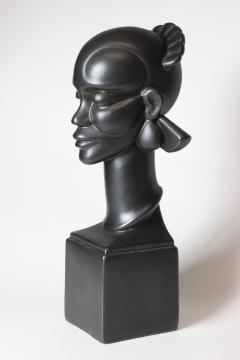 Waylande Gregory Congo Head sculpture designed by Wayland Gregory made by Cowan Pottery Studio - 1320698