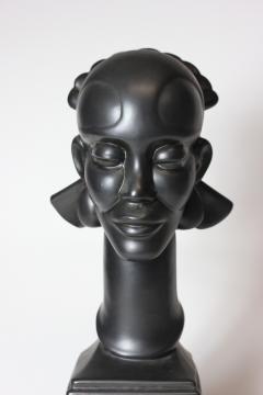 Waylande Gregory Congo Head sculpture designed by Wayland Gregory made by Cowan Pottery Studio - 1320699