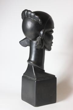 Waylande Gregory Congo Head sculpture designed by Wayland Gregory made by Cowan Pottery Studio - 1320700