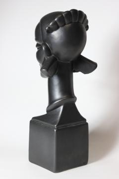 Waylande Gregory Congo Head sculpture designed by Wayland Gregory made by Cowan Pottery Studio - 1320701