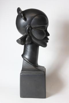 Waylande Gregory Congo Head sculpture designed by Wayland Gregory made by Cowan Pottery Studio - 1320702