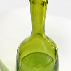 Wayne Husted Vintage Olive Green Blenko Decanter W Stopper Design by Wayne Husted 0061 - 1959076